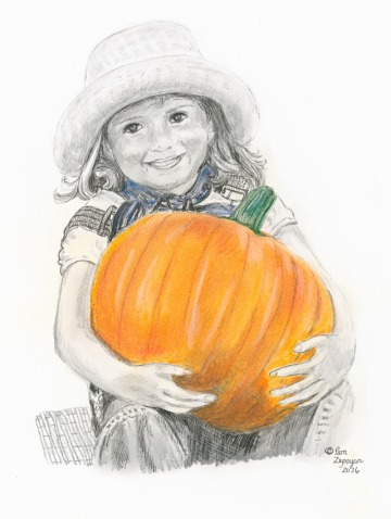 little-girl-with-pumpkin